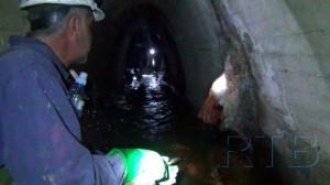 Екипа РТБ-ове чете за спасавање проверила стање градског колектора