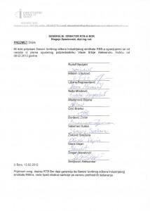 Саопштење Индустријског синдиката РББ-а (кликом на слику добићте увећани докуменат)