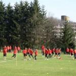 Фудбалери Црвене звезде на припремама на Борском језеру