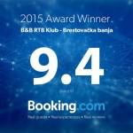 Клуб РТБ-а добио признање са портала Booking.com
